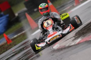 Reigning DD2 Masters World Champion Cristiano Morgado swept the wheel-to-wheel action in West Palm Beach(Photo: INTL-KartingMedia.com)