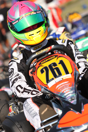 Fritz Leesmann will be back in FWT action in 2013, taking on the Rotax Senior category aboard his PSL/CRG(Photo: pslkarting.com)