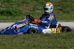 Di Leo was on the podium both days in Florida after a switch to DD2(Photo: INTL-KartingMedia.com)