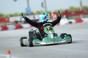 Oliver Askew provided OGP with another victory in Homestead taking the checkers in Rotax Senior (Photo: OcalaGranPrix.com)
