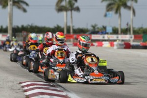 Three-time Rotax MAX Grand Finals champion Cristiano Morgado won Saturday in DD2 Masters (Photo: Ken Johnson - Florida Winter Tour)