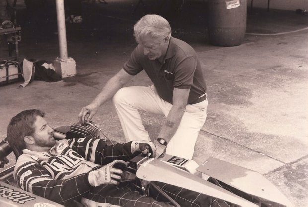 Karting continues to be a family sport after decades for the Fulks family, Randy pictured here with his father Reggie