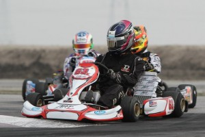 Travis Lowe aboard his new ART GP kart for 2013