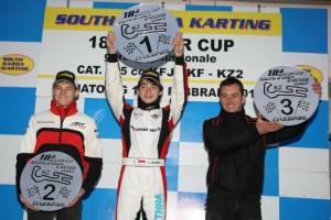 KZ2 podium with Leclerc winner