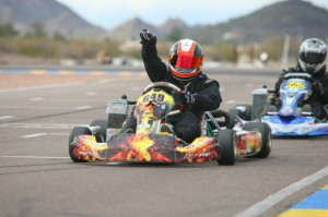 Justin Peck became a first time winner in Masters Max with RPG in Phoenix (Photo: Sean Buur - Go Racing Magazine)