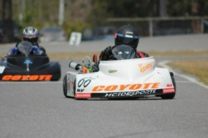 Coyote racers Tyler Woods and Tyler Stiefel at 103rd Street WKA Gold Cup (KRAPP photo)