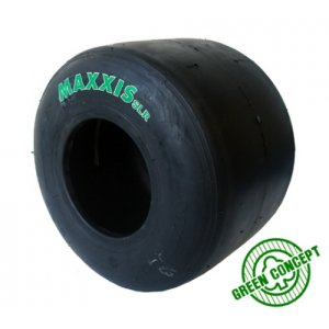 The new Maxxis SLR (Green) medium compound tire will be used in the Maxxis Pro Kart Tour 'Right Hand Edition'