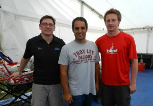 Marc and Stevan at a recent Florida Winter Tour event with MRP-Birel America with Juan Pablo Montoya whose son, Sebastien competes with the team