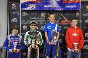 Anthony Gangi Jr. earned two podium results in his junior class debut at the United States Pro Kart Series inaugural event (Photo: GangiJr.com)