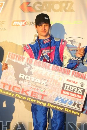 GoRotax Driver of the Month - March 2013 - Phillip Arscott (Photo: Sean Buur - Go Racing Magazine)
