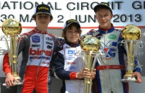 Parker Thompson earned a third place podium result in Genk, Belgium at the fourth round of the WSK Euro Series  (Photo: KSP.fr)