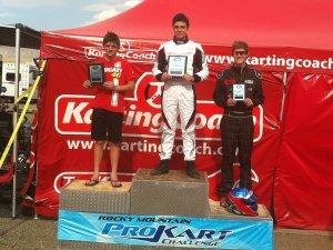 Kale Kunicki on top of the podium
