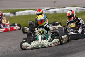 Anthony Tolfa opened the 2013 ECKC with a pair of podiums and is the current Rotax Junior points leader (Photo: SummitGPKarting.com)