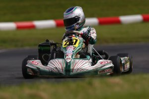 Taegen Poles showed the speed to run near the front in Rotax Junior (Photo: Summit GP)